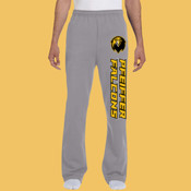 Falcons - 974MP-PF Jerzees 8oz., 50/50 NuBlend® Open-Bottom Sweatpants