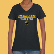Track & Field - 88VL-PF Anvil Ladies' Lightweight V-Neck T-Shirt
