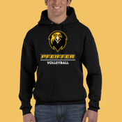 Volleyball - 82130-PF Fruit of the Loom 12oz. Supercotton™ 70/30 Pullover Hood
