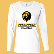 Volleyball - 884L-PF Anvil Ladies' Ringspun Long-Sleeve T-Shirt