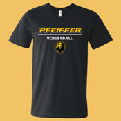 Volleyball - 982-PF Anvil Lightweight V-Neck T-Shirt