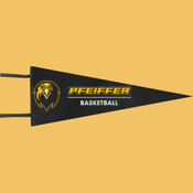 Basketball - Wool Pennant Flags