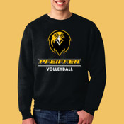 Volleyball - 82300-PF Fruit of the Loom 12oz.Supercotton™ 70/30 Fleece Crew