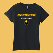 Volleyball - 880-PF Anvil Ladies' Ringspun Lightweight T-Shirt