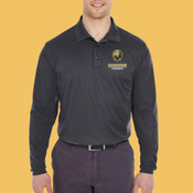 Volleyball - 8210LS-PF - Adult Cool & Dry Long-Sleeve Mesh Piqué Polo